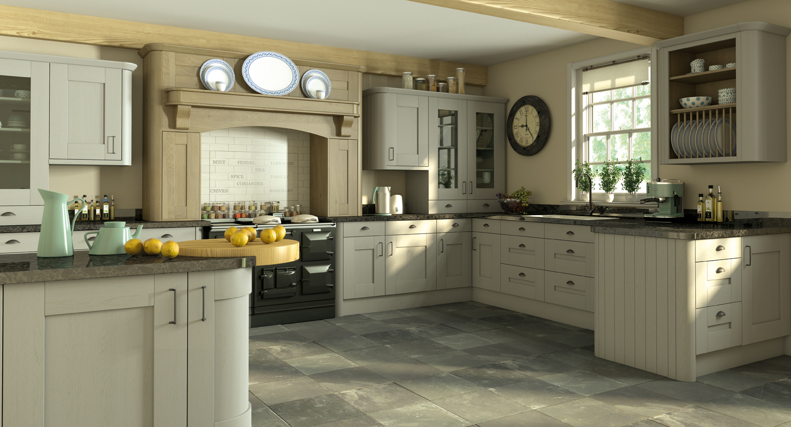 Hand painted shaker kitchens hallmark kitchen designs for Where to get a kitchen from