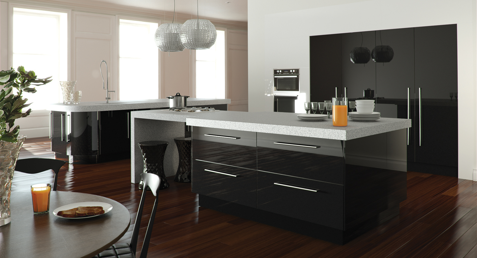Designer Gloss Black Kitchen Unbeatable Prices