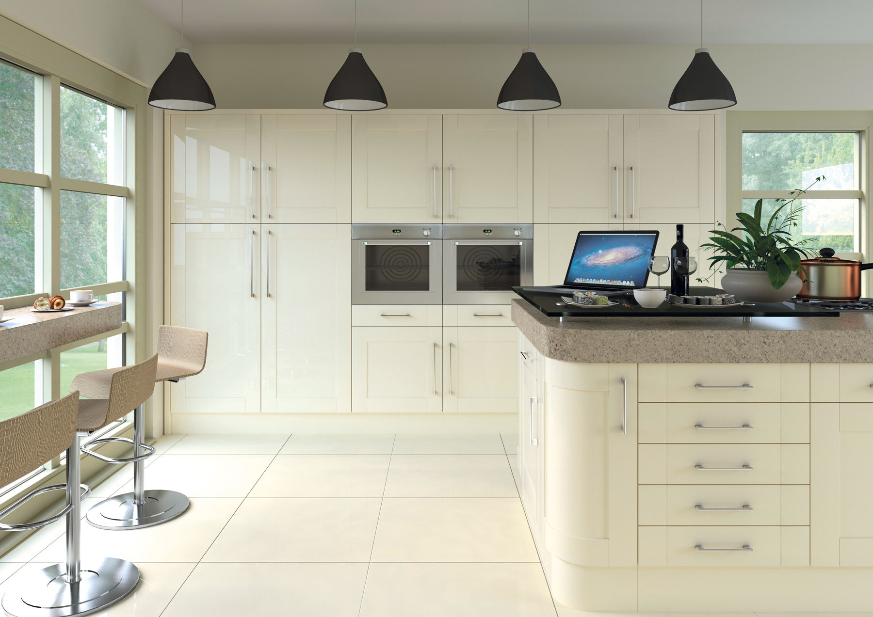 Shaker gloss cream - All about kitchens ...