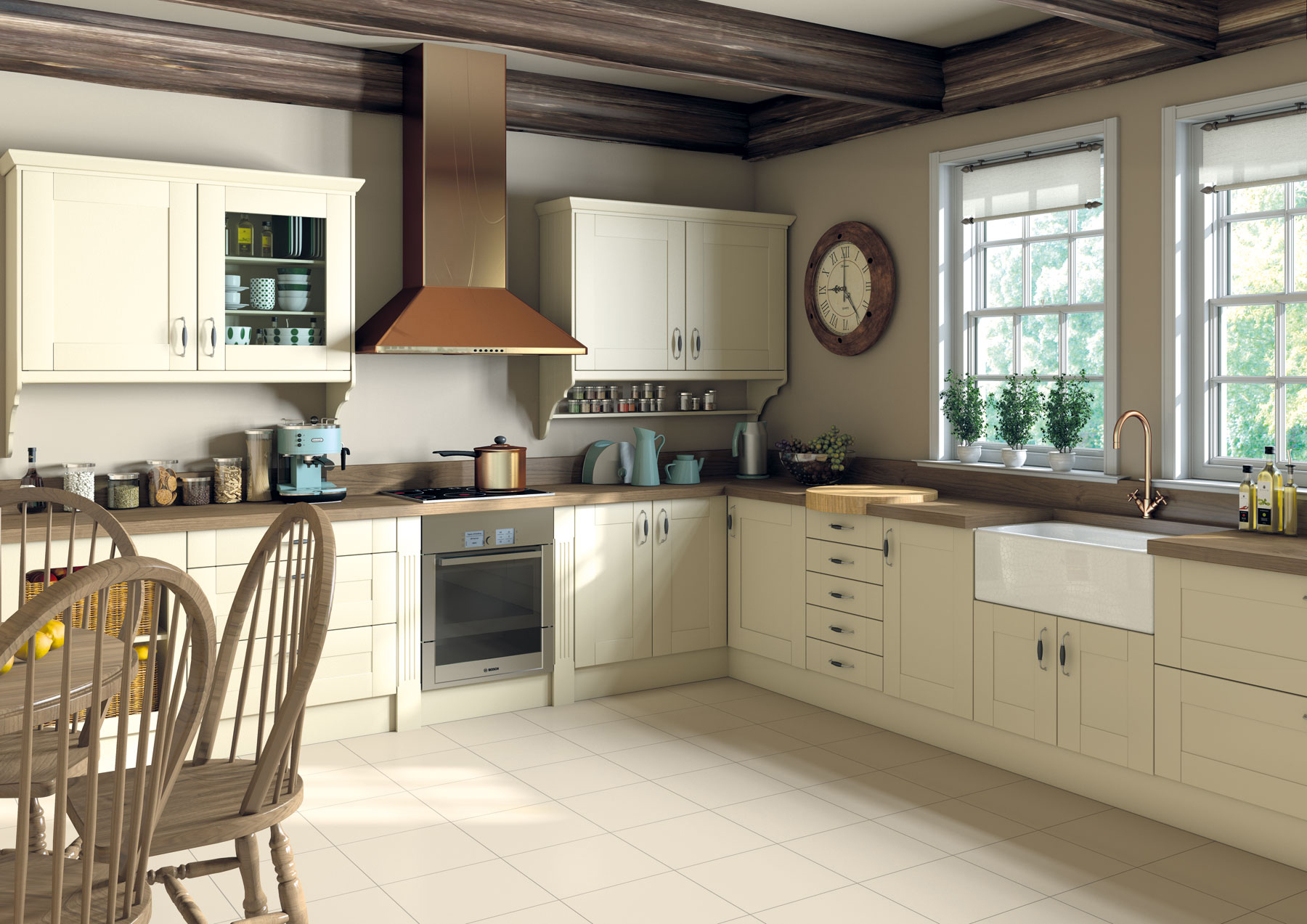 Shaker Ivory Kitchens At Factory Prices