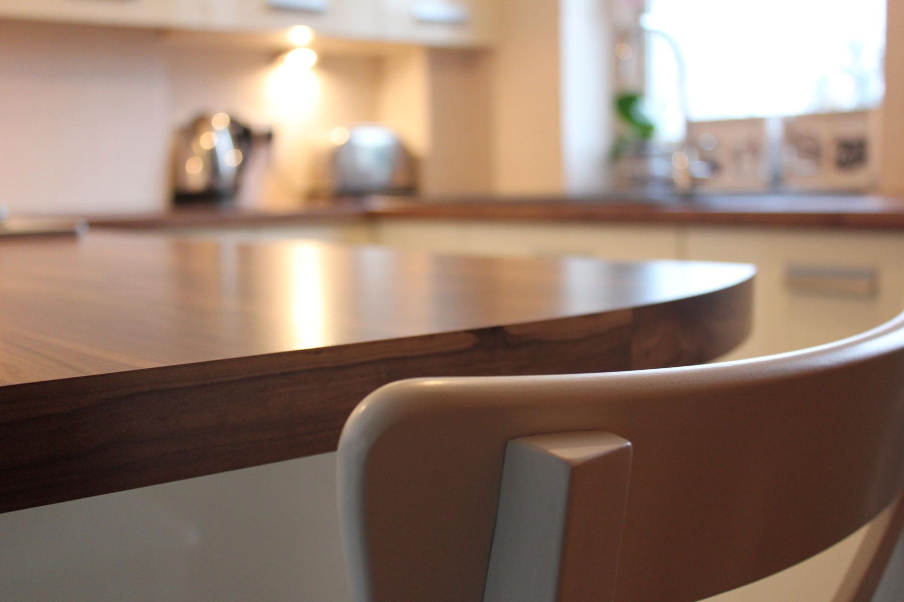 Wood effect laminate worktops