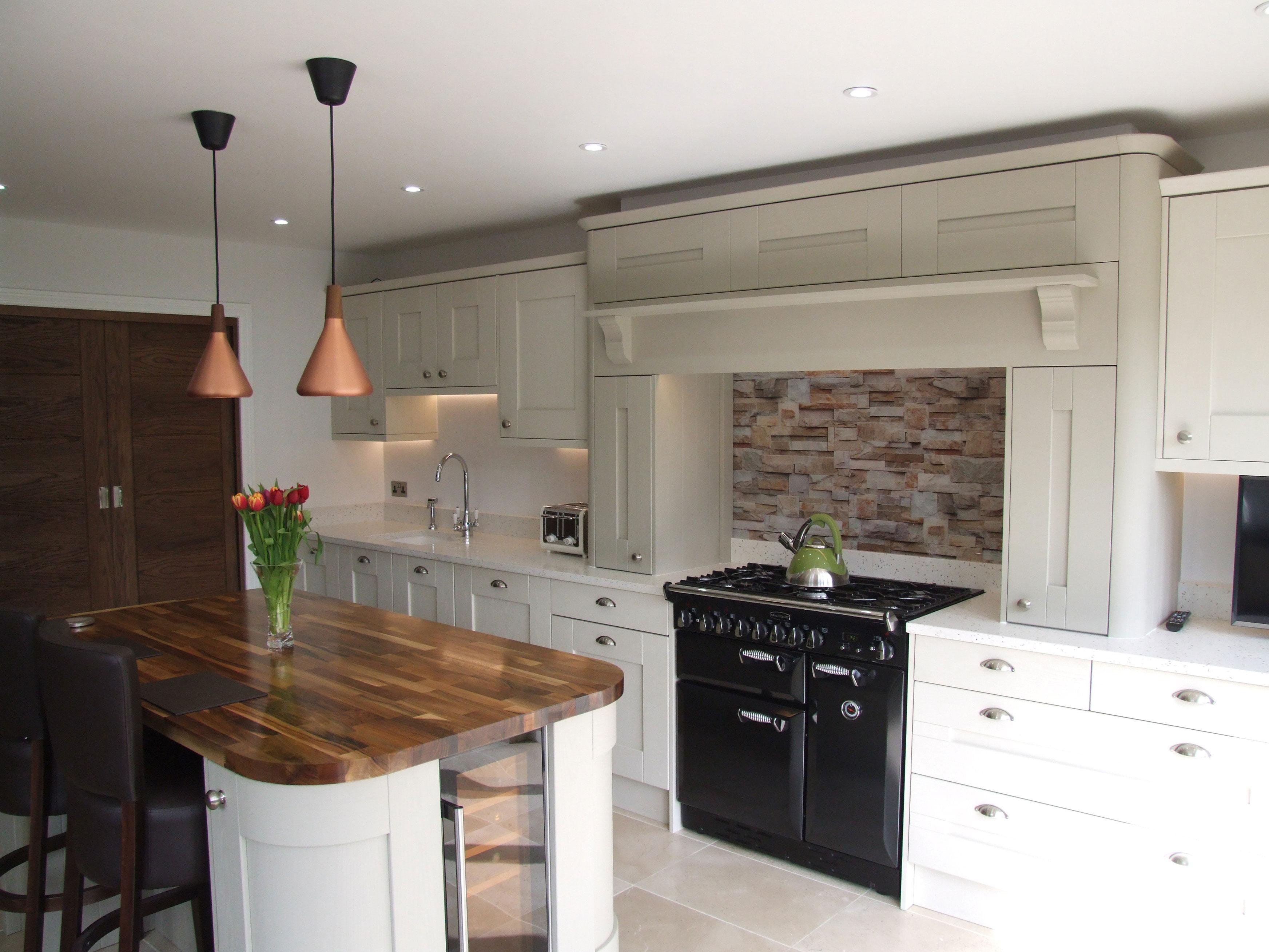 shaker kitchen with chimney mantle hallmark kitchen designs