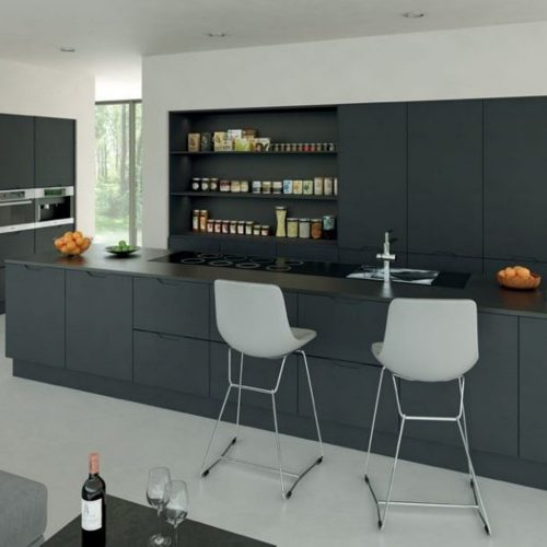 Hallmark - Integrated Handle Graphite Kitchen