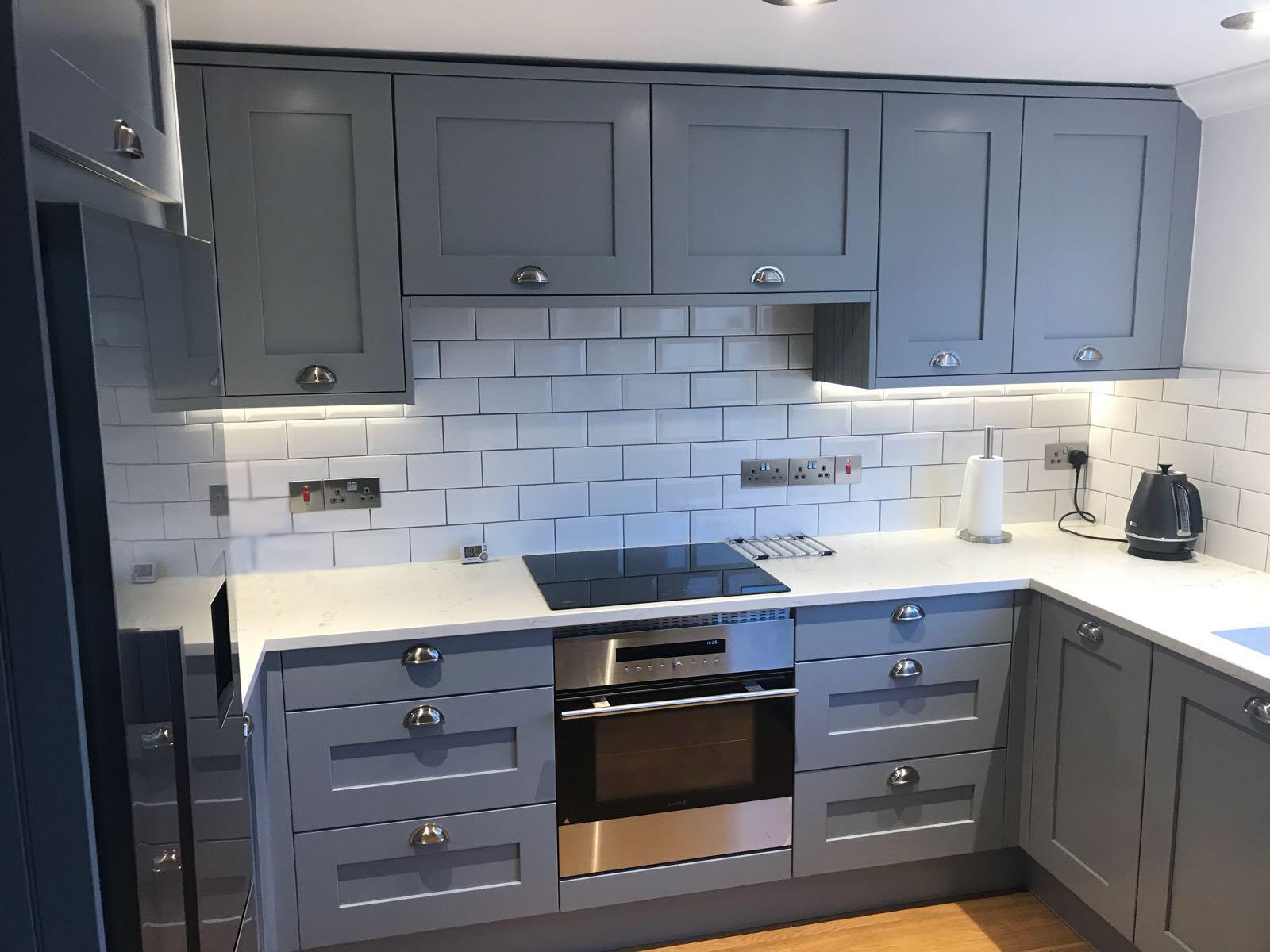Luna Grey Shaker Kitchen Cupboards Hallmark Kitchen Designs