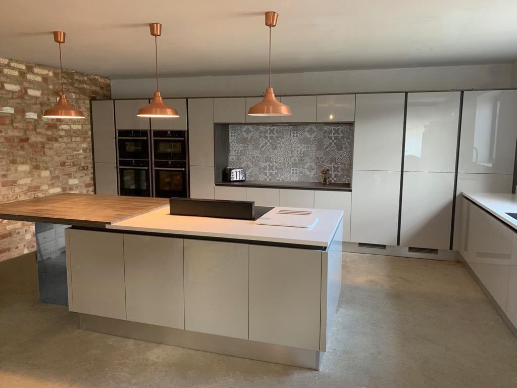 Light Dove Grey Gloss Hallmark Kitchen Designs